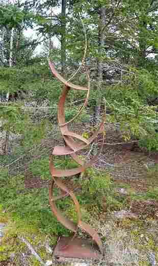 Curved Steel Outdoor Sculpture