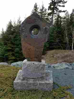Don Meserve Granite Totem Outdoor Sculpture