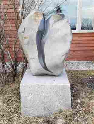 Mark Herrington Granite Outdoor Heart Sculpture