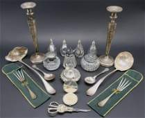 Small Group of Sterling & Silver Plate Items