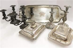 Silverplate Table Pieces Pr 1890 Tiffany Candelabra