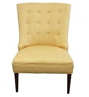 Hollywood Regency Style Tufted Boudoir Chair