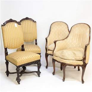 2 Pair Upholstered Chairs
