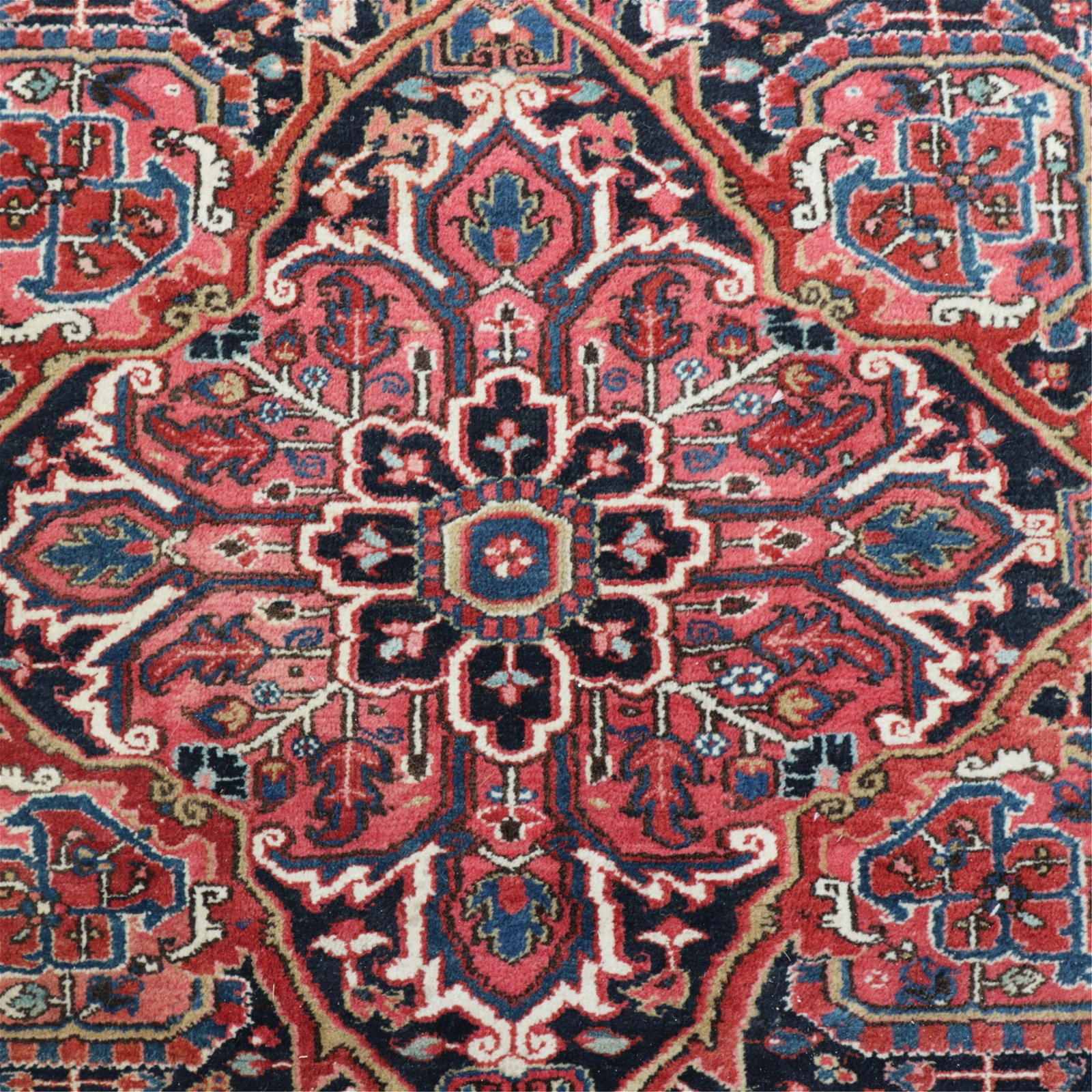 Vintage Heriz Wool Carpet - 8 x 12