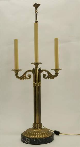TwoLight Candelabra Form Chapman Table Lamp