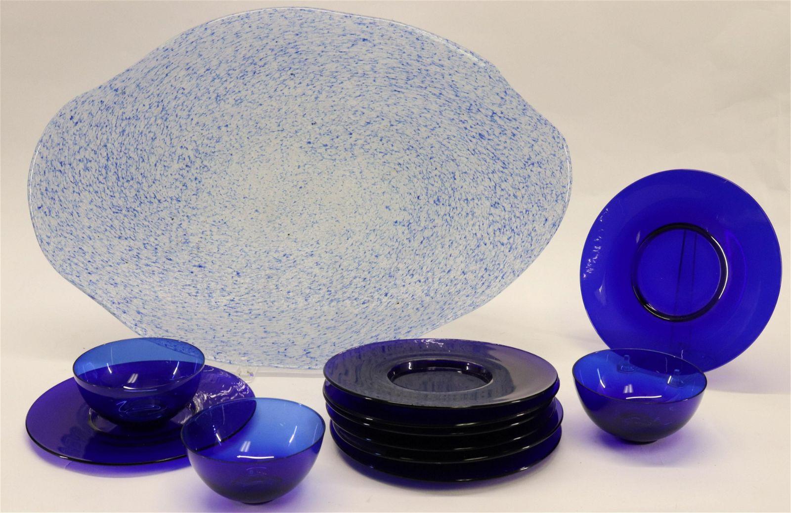 Modern Art Glass Plateau, etc.