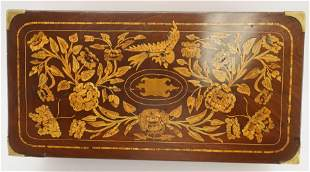 Dutch Marquetry and Mahogany Lap Desk