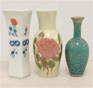 Asian Contemporary Porcelain Vases