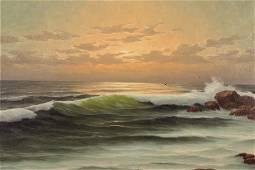Herman Jozef Wijngaard - Rocky Coast at Sunset O/C