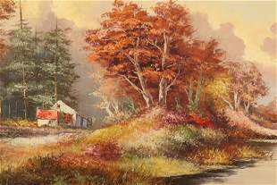 Fall Landscape Oil on Canvas