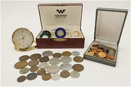 Group with Watch, Clock & Coins