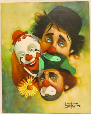 Chuck Oberstein Three Faces of the Clown 442