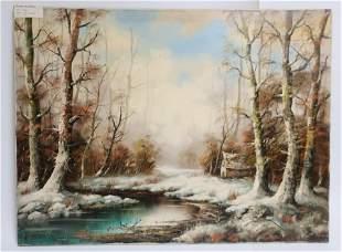 Winter Landscape with Stream Eberhard Althoff