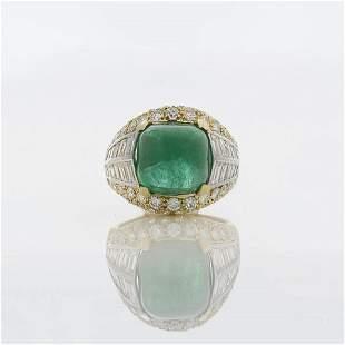 8.12 ct Emerald & Diamond Ring