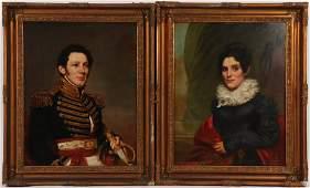 Waldo & Jewett Portraits, c.1830, Col./Mrs. Burtis