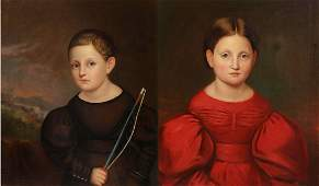 The Lansing Twins, Pr American O/C Portraits 1825