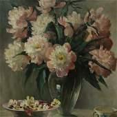 Mary Bartlett Fairchild Low - Peonies, O/C
