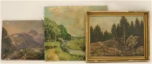 S Burtan Hunting signed Landscape Paintings