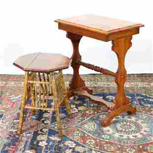 2 Small Tables Late 19thEarly 20th C