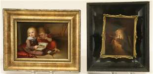 2 Continental Paintings on Porcelain