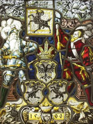 The Schaffhausen Leaded Stained Glass Panel