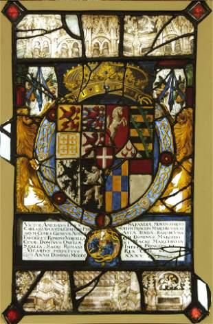 Arms of Victor Amadeus I, Duke Savoy, Window, 1635