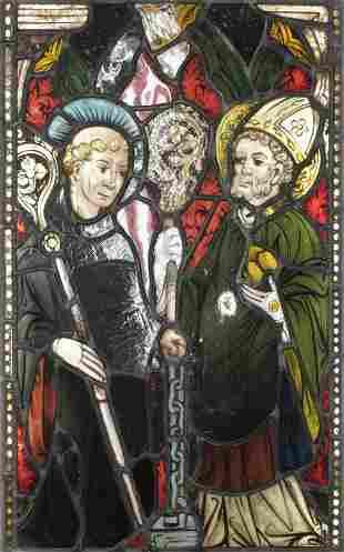 Stained Glass Window Panel, St. Nicolas/Leonard
