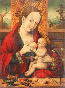 Flemish 16th C., Circle Van Cleeve, Madonna/Child