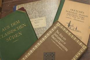 Group of books on Architecture