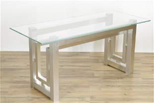 Paul Evans Style Aluminum Plow Parsons Table