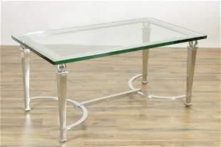 Maison Jansen Style Chrome Coffee Table