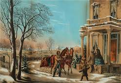 N. Currier - American Country Life.. Winter, 1855