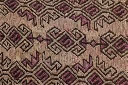 Caucasian Woven Wool Kilim Rug