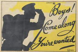 """""""Boys! Come Along You're Wanted"""" Poster"""