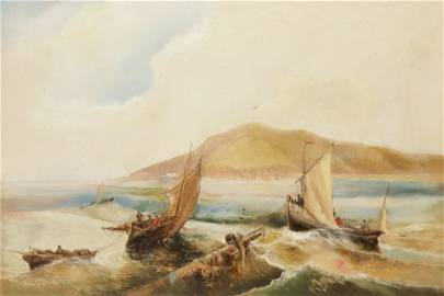 Fishing Boats in Distress, O/C