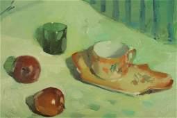 Rafael Griera - Apple & Porcelain Still life