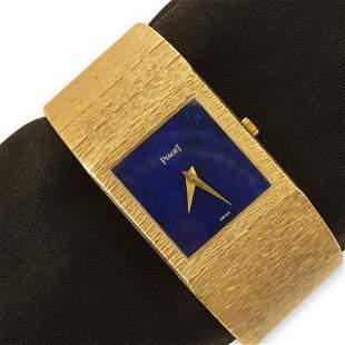Piaget 18K Gold and Lapis Watch