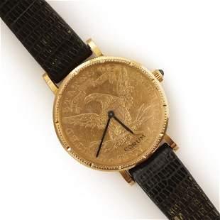 1894 Coronet Head Gold $10 Coin Corum Watch