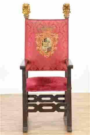 Italian Baroque Style Arm Chair