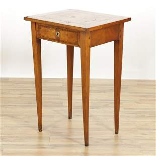 German Neo-Classic Inlaid Side Table, 18th C