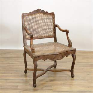 Regence Carved Beechwood Fauteuil, 18th C