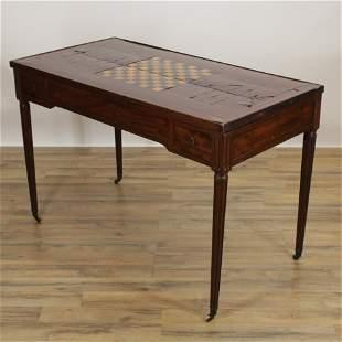 Louis XVI Inlaid Mahogany Tric-Trac Table, 18th C.