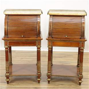 Pair of Louis XVI Style Table de Nuit, Late 19th C