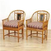 Pr Maitland Smith Brighton Pavilion Rattan Chairs