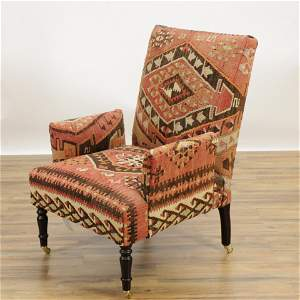 George Smith Kilim Upholstered Library Chair