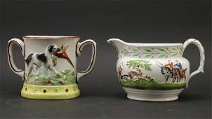 Staffordshire Setter  Hunt Pieces 19th C