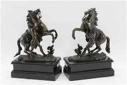 Aft Guillaume Coustou, Pr Bronze Marley Horses