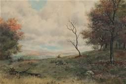 Frederick S. Burgy - Fall Sunrise Landscape