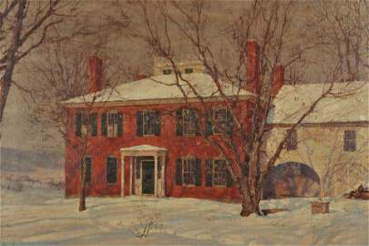 Walter L. Palmer , House In Winter,c.1905, O/C