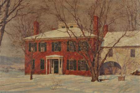 Walter L. Palmer , House In Winter,c.1905, O/C
